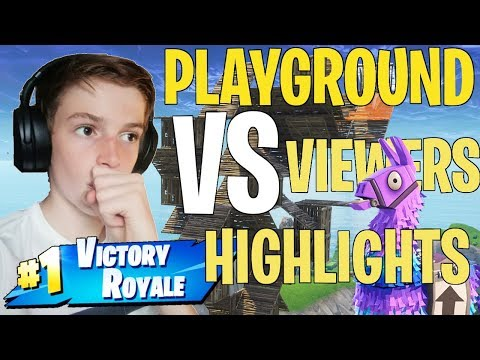 Fortnite Playground 1v1s against VIEWERS Highlights!