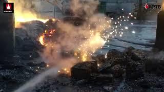 Incendio en nave industrial de Fuenlabrada con magnesio y aluminio