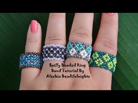 Spiffy Beaded Ring Band Tutorial