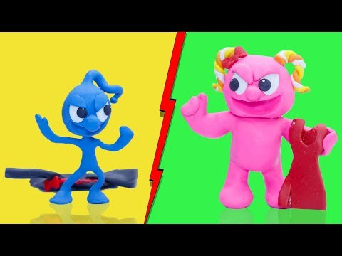 CLAY MIXER: WEIGHT GAIN AND LOSS INSANE WORKOUT  Play Doh Cartoons For Kids