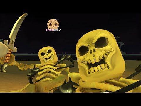 Skeleton Pirates ! Let's Play Roblox Games with Cookie Swirl C (видео)