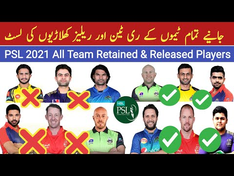 All Team Squad for PSL 2021 | PSL 6 All Team Retained & Released Players List | PSL 2021 Squads