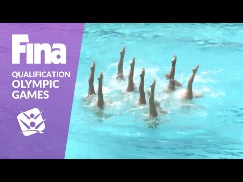 Re-live: Team Free - FINA Synchronised Swimming Olympic Qualifier