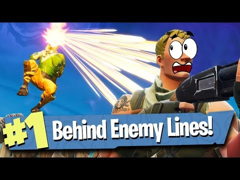 BEHIND ENEMY LINES IN 50v50 V2 - Fortnite: Battle Royale