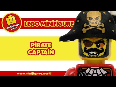 🦜 LEGO minifigure: Pirate Captain (col127) 🦜 [SERIES 8 - PIRATE]