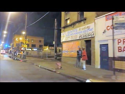 CHICAGO GHETTO AT NIGHT