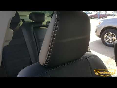 """Чехлы на Honda Accord 9, серии """"Alcantara"""" - серая строчка"""