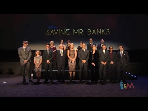 cast - Visit http://www.InsideTheMagic.net for more about Saving Mr. Banks! On Dec 9, 2013, the premiere of Saving Mr. Banks was held at the Walt Disney Studios wit...