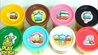 Combine Play Doh Clay TAYO Surprise Egg Toys Learn Colors DIY Slime Orbeez