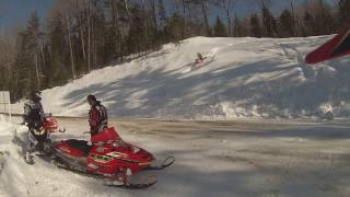 5. playing around on a hill skidooing.