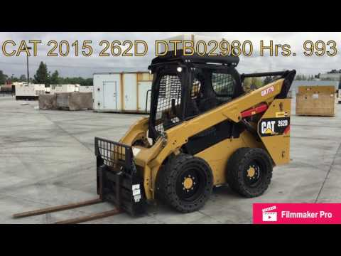 CATERPILLAR MINICARGADORAS 262D equipment video Ks5lenDMOVM