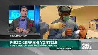 Op.Dr.Bülent Koç, CNN Türk kanalında Piezo Burun Estetiği hakkında son gelişmeleri anlatıyor.