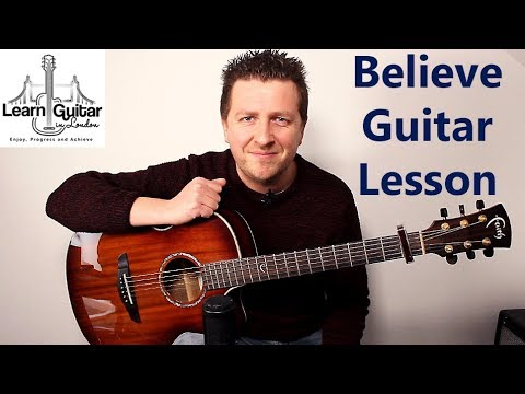 Believe – Acoustic Guitar Lesson – Cher – Drue James – Cover