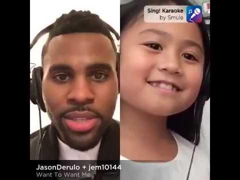 Smule Sing app performance ft. Jason Derulo and a little girl fan (видео)