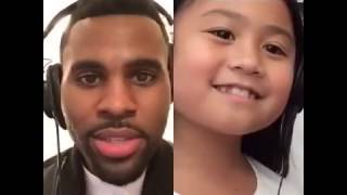 Video Smule Sing app performance ft. Jason Derulo and a little girl fan MP3, 3GP, MP4, WEBM, AVI, FLV Mei 2019