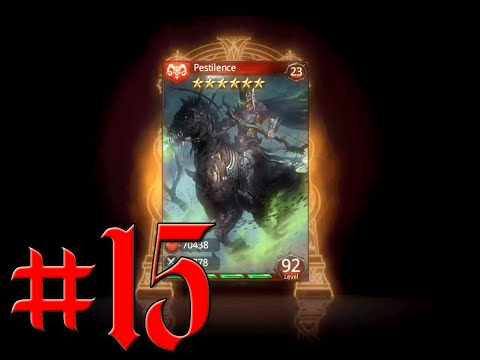 Heroes Of Camelot - Episode 15 - Evolving 8 cards Pestilence & Famine ( Over lvl all tiers)