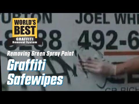 Old Green Spraycan off Real Estate Sign