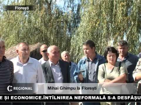 Mihai Ghimpu la Florești
