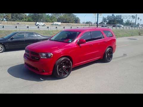 877-544-8473 20 Inch Tuff Wheels Black Red Wheels Dodge Durango  Dubsandtires.com Free Shipping