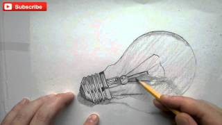 Art Lesson: How To Draw A Light Bulb Step By Step