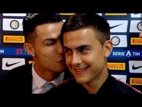 Cristiano Ronaldo causa polémica por besar a Paulo Dybala, durante una entrevista