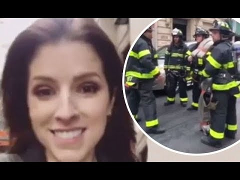 Anna Kendrick walks to Tonight Show after hotel fire