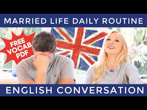 English Conversation - Daily Routine (with vocabulary)