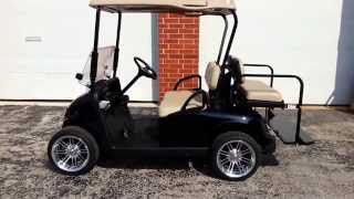 1. 2011 EZGO RXV GAS Golf Cart 13hp Kawasaki NEW Black Body, 14 inch Rims