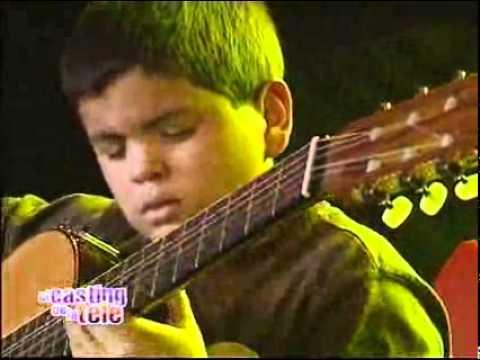 Con 11 años, tocó su guitarra como un grande   El casting de la tele 2008   El Trece