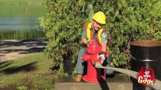 Lifting Fire Hydrant Spray