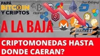 Porque Bitcoin y Criptomonedas van a la baja | hasta donde? |