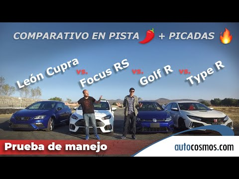 VW Golf R vs. Civic Type R vs. Focus RS vs. SEAT León Cupra