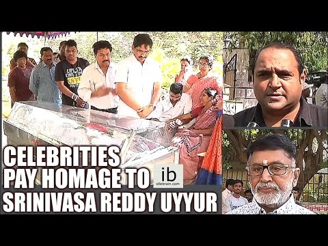 Celebrities pay homage to Cinematographer Srinivasa Reddy Uyyuru