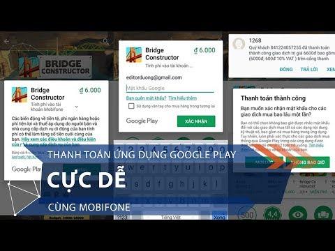 Thanh toán ứng dụng Google Play cực dễ cùng Mobifone | VTC1 - Thời lượng: 86 giây.