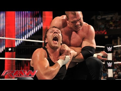Dean Ambrose vs. Kane%3A Raw%2C Sept. 22%2C 2014