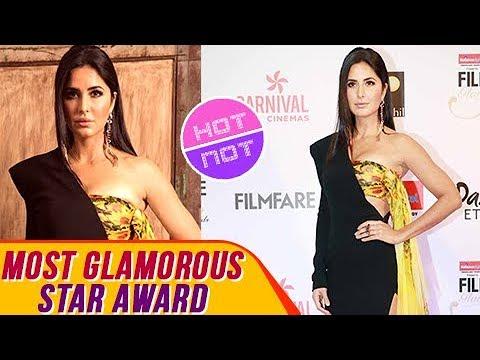 Katrina Kaif In A Thigh High Slit Gown At Filmfare