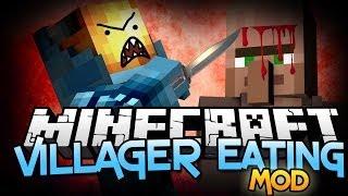 "Minecraft Mod | VILLAGER MINCER MOD! - ""I'm a Villager Eater!"" Mod Showcase"