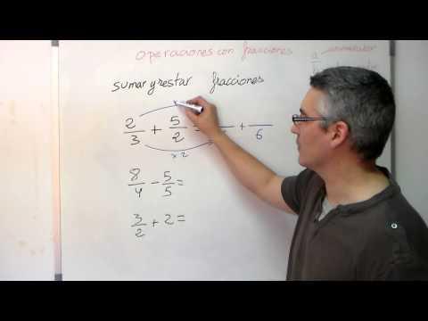 Sumar y restar fracciones. Aprende matemáticas
