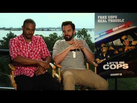 LET'S BE COPS Interview with Damon Wayans Jr. & Jake Johnson