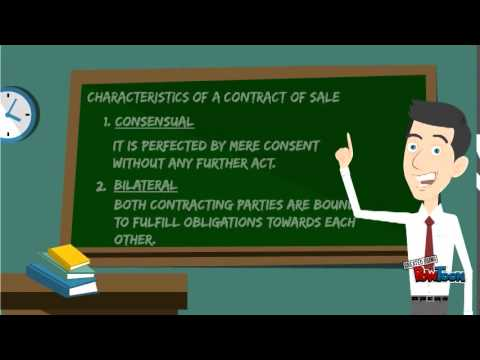 Business Law: Contract of Sale part 1.