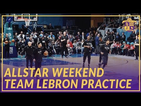 Video: 2019 NBA All-Star: Team LeBron Doing Some Drills At All-Star Practice