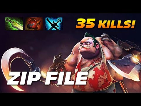 ZIP FILE PUDGE | 35 KILLS OWNAGE | Dota 2 Pro Gameplay
