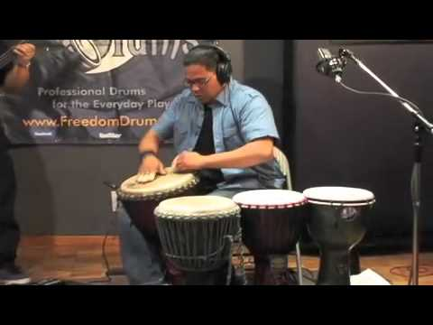 Freedom Drums, Djembe & Bass Guitar Jam Session