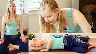 Beginners Yoga For Relaxation #1, Stress Relief, Flexibility & Pain Reliefm, Bedtime Sleep Routine - YouTube