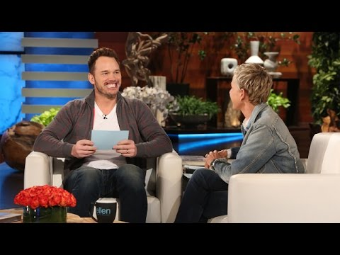 Chris Pratt Cracks Himself Up While Playing Speak Out With Ellen