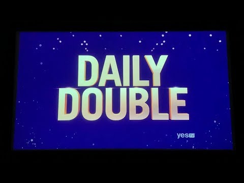 Double Jeopardy, Greatest of All Time Day 4, Game 1 - 2nd Daily Double found by Brad 😂 (1/14/20)
