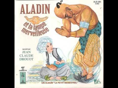 LE PETIT MENESTREL ALADIN et la LAMPE MERVEILLEUSE J. Claude DROUOT disque ROUGE