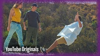 Hollywood Stunt Falls in Slow Motion