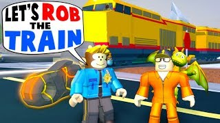 COP HELPS ME ROB THE TRAIN!! *$1M VOLT BIKE* (Roblox Jailbreak)