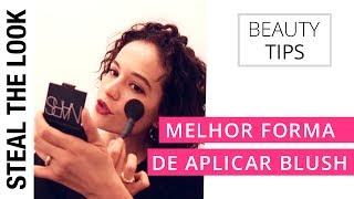 A Melhor Forma de Aplicar Blush - Dica rápida da maquiadora da NARS Rafaella Crepaldi
